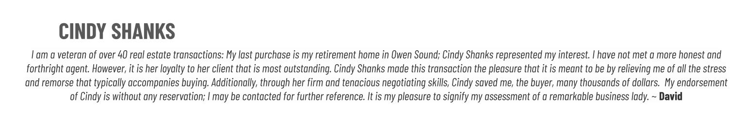 Cindy Shanks Real Estate Review