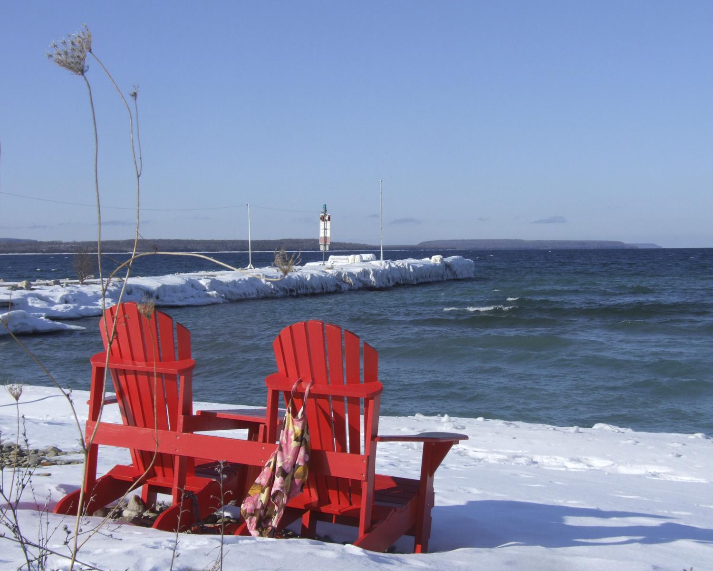 Big Bay Dock (Winter) Georgian Bluffs Real Estate - Carol White