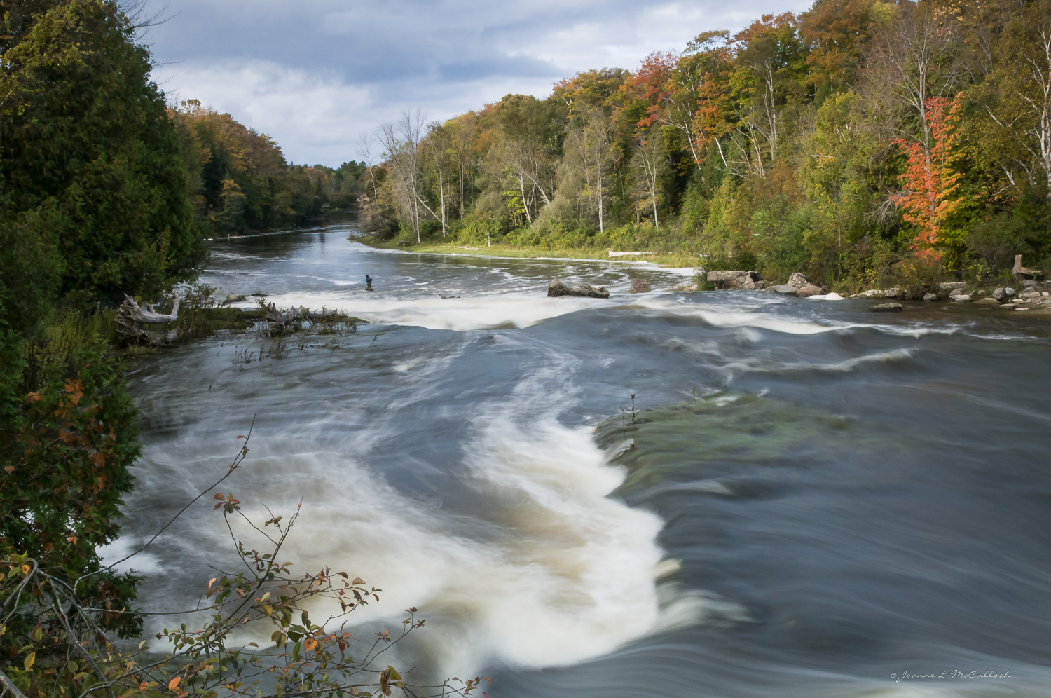 Fishing at Sauble Falls, Sauble Beach Real Estate, South Bruce Peninsula Real Estate