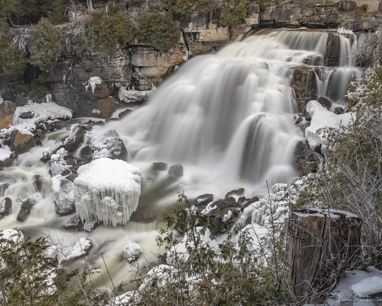 Inglis Falls (Winter), Owen Sound Real Estate - Kevin Prentice