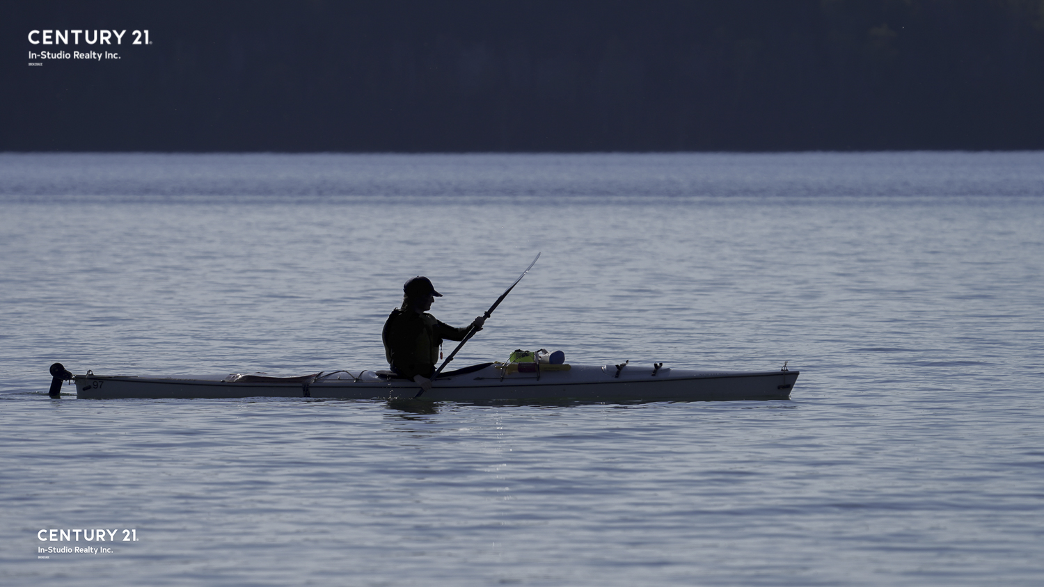 Kayaker on Colpoy's Bay