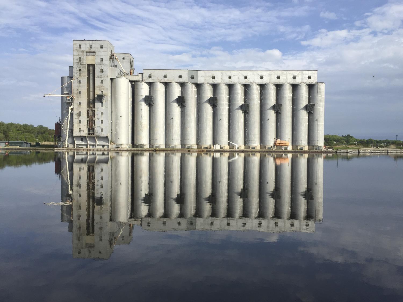 Owen Sound Real Estate Owen Sound Grain Elevators Reflection (Summer) - Lynn McFaul