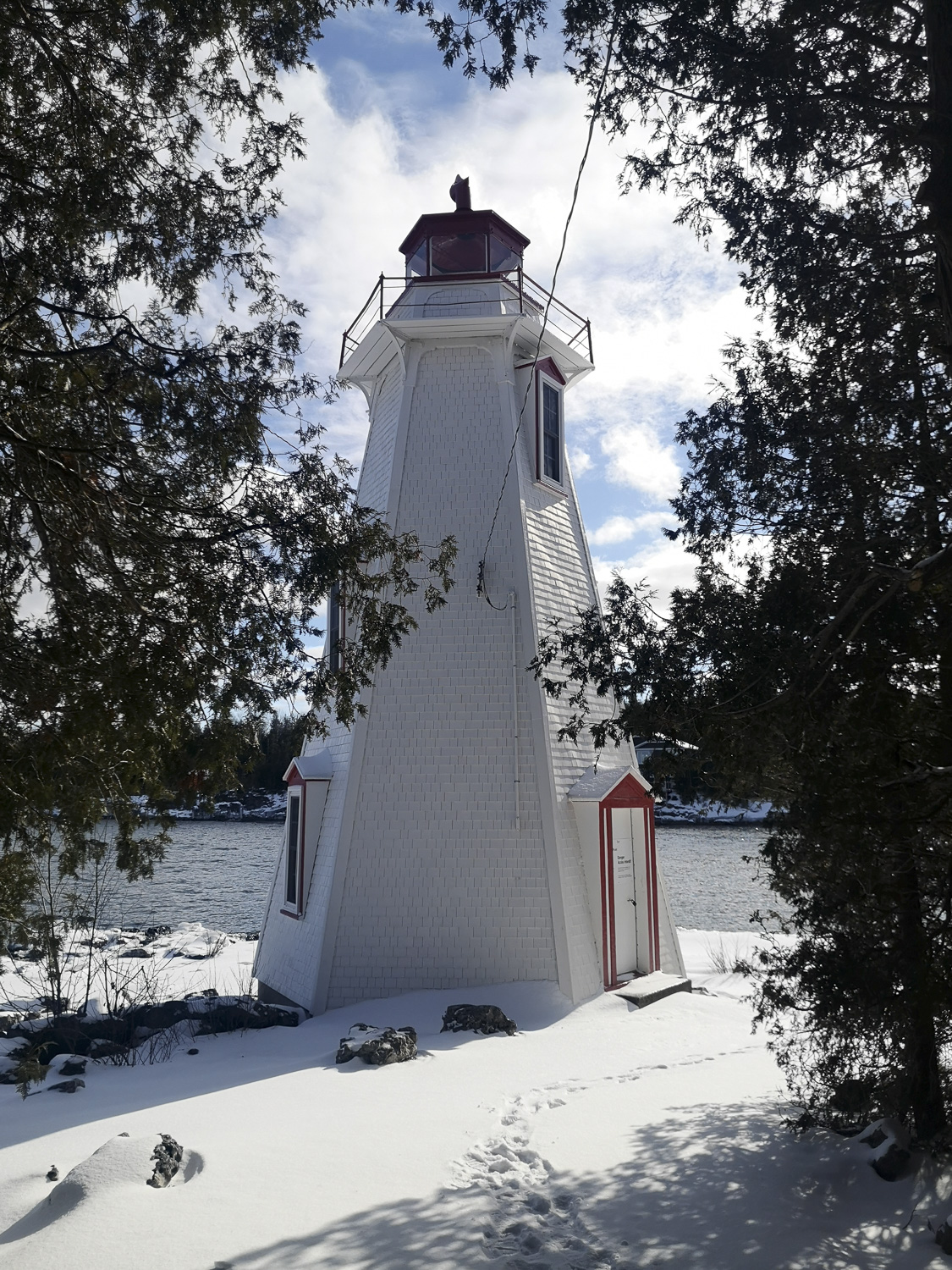 Tobermory Lighthouse (Winter), Tobermory Real Estate, Northern Bruce Peninsula Real Estate